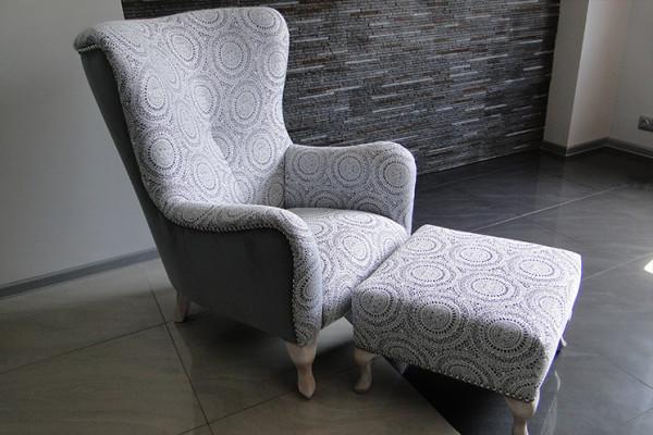 Fotel ALEX + pufa